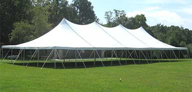 High peak pole tent rental from Amerevent.